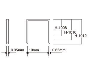 ステープル H-10ハンマータッカー用