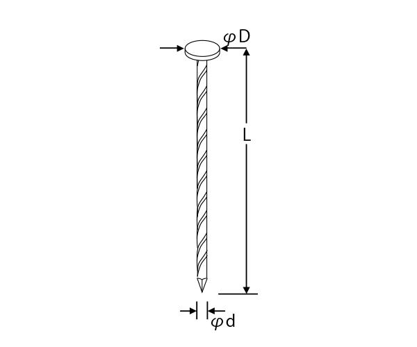 シート連結ロール釘(斜) TAP 鋼板釘
