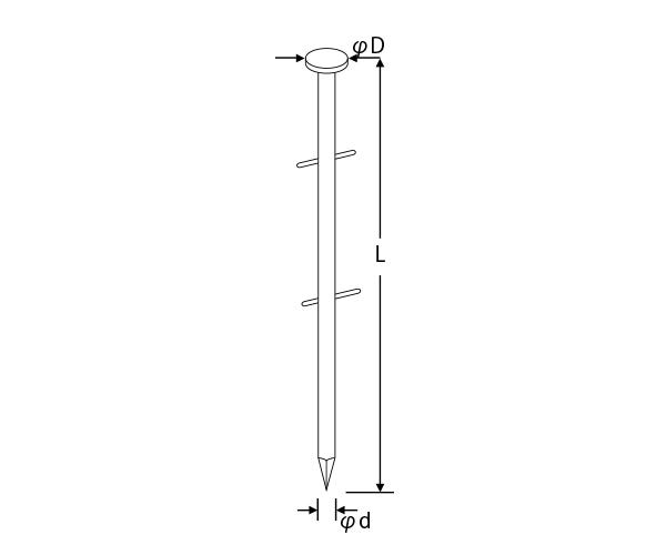 ロール釘・ワイヤー連結(斜)、TNC-H コンクリート釘